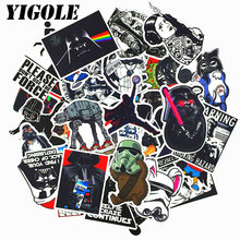 50pcs/lot NEW Star Wars Stickers Classic Toys PVC Laptop Skateboard Motorcycle Notebook Suitcase Waterproof Sticker(China)