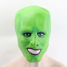 GNHYLL Halloween Jim Carrey Film Mask Cosplay Green Mask Kostume Voksen Fancy Dress Ansigt Halloween Masquerade Party Mask