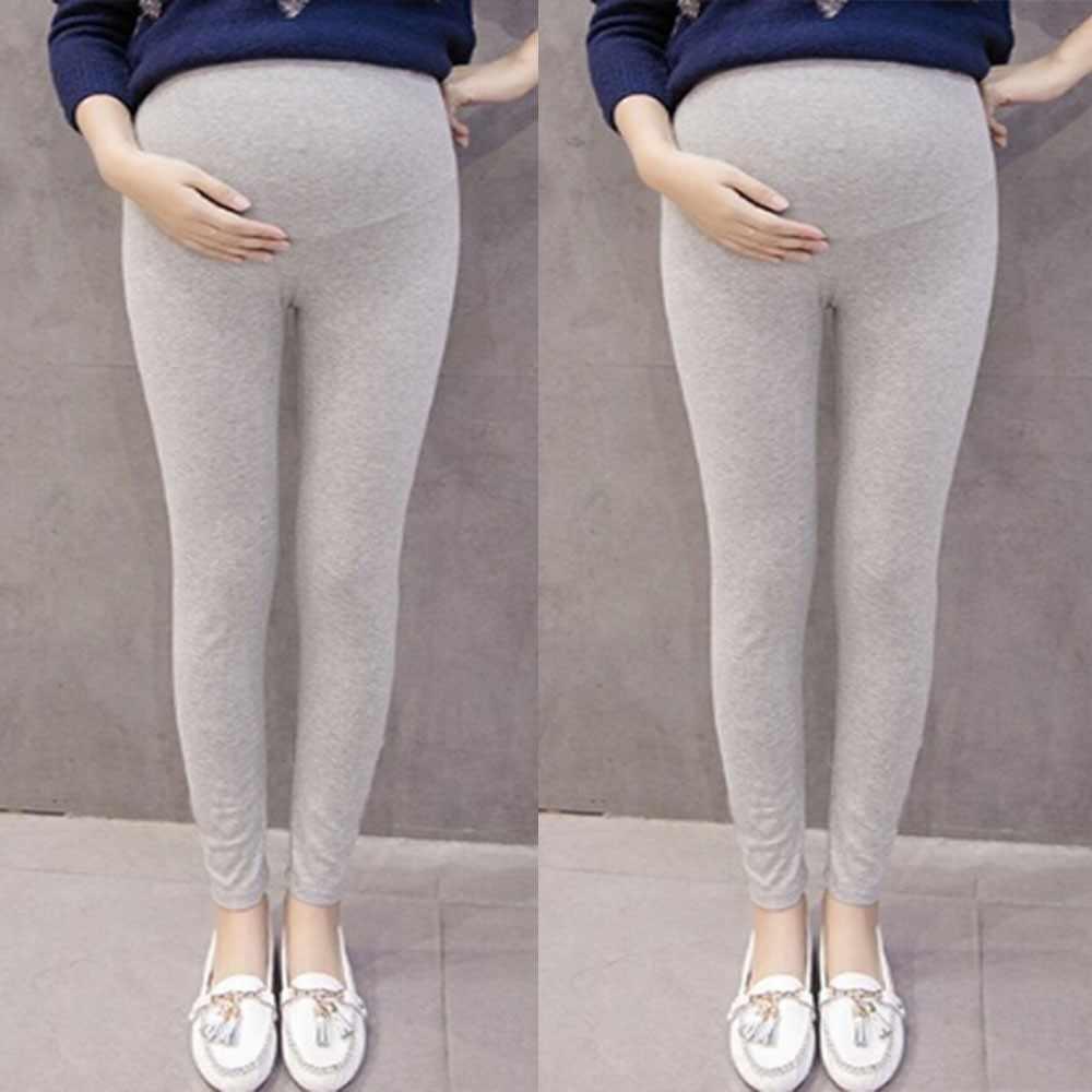 Для беременных Штаны беременных Для женщин Штаны одноцветное Цвет и тонкий для беременных и матерей после родов Брюки для беременных Штаны низкой талией # P40US