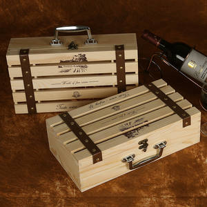 XXXG A variety of specifications wooden gift Wine box Red