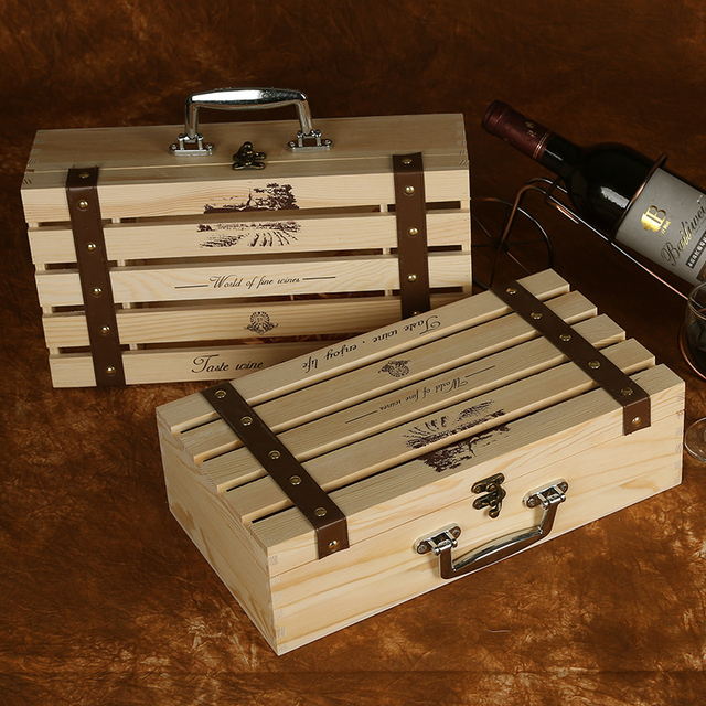 Us 9 9 Xxxg A Variety Of Specifications Wine Wooden Wine Packaging Box Wine Gift Boxes Wine Single Loaded Pine Box Red In Bar Sets From Home