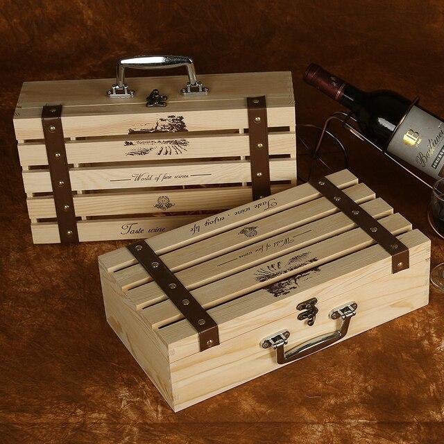 Xxxg una variedad de especificaciones de vino de madera caja de