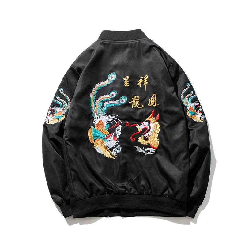 2018ใหม่สไตล์จีนเย็บปักถักร้อยมังกรแจ็คเก็ตคันจิเสื้อสหรัฐขนาดXS XXL-ใน แจ็กเก็ต จาก เสื้อผ้าผู้ชาย บน   3