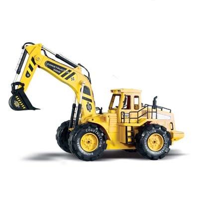 Children RC Truck Electric Digger Big Boy Remote control Truck Size 1:10 RC Excavator Toy kingtoy detachable remote control big size multifuncional rc farm trailer tractor truck toy