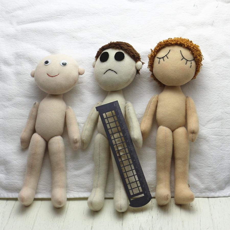 4 Farben DIY Puppe Haut Stoff Fleece Samt Plüsch faser Tuch für ...