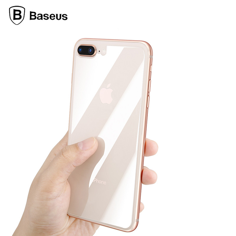 sports shoes cfdde 843df US $4.11 |Baseus 0.3mm Back Screen Protector For iPhone 8 Rear Tempered  Glass For iPhone 8 Plus Reverse Protective Toughened Glass Film-in Phone ...