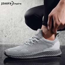 Breathable Men Sneakers Male Shoes Adult Red Black Gray High Quality Comfortable Lace Up Soft Mesh Men Shoes New Arrival недорого