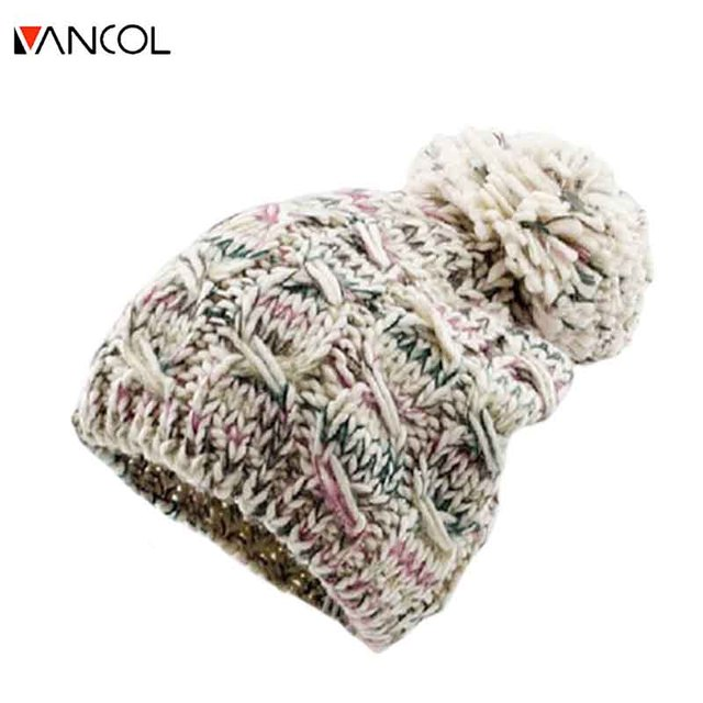 Brand Designer Beanie Cap Crochet Cappello Donna Inverno Woolen Unisex Cotton Girls Winter Hats for Women Knitted Knit Hat Pom