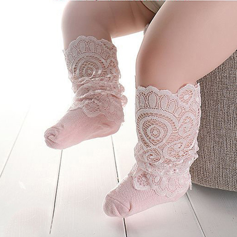 Socks, Tights & Leggings Have An Inquiring Mind New Lace Knee Socks Girls Beauty Princess Style Toddler Long Socks Summer Socks For Girls Baby Dresses Clothes Accessories