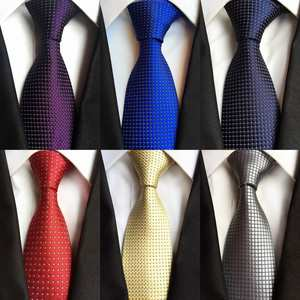 SKng Blue Red 100% Silk Neck Tie Ties for Men Wedding