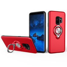 ChauLok Phone Cases for Samsung A5 7 8 Plus(2018) Cover Car Holder Stand Magnetic Bracket Finger Ring for Samsung A530 730 G530(China)