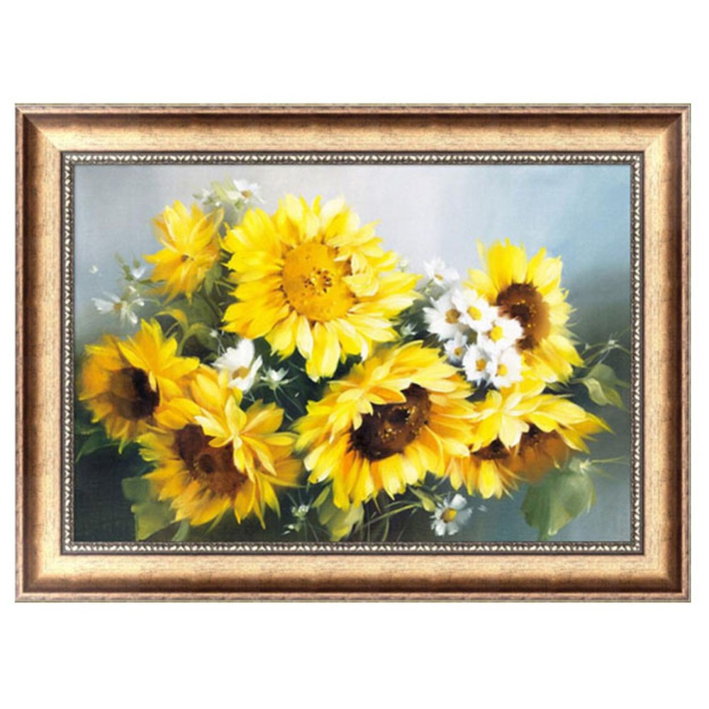 Diy 5d sunflower diamond embroidery painting cross crafts for Sunflower home decor