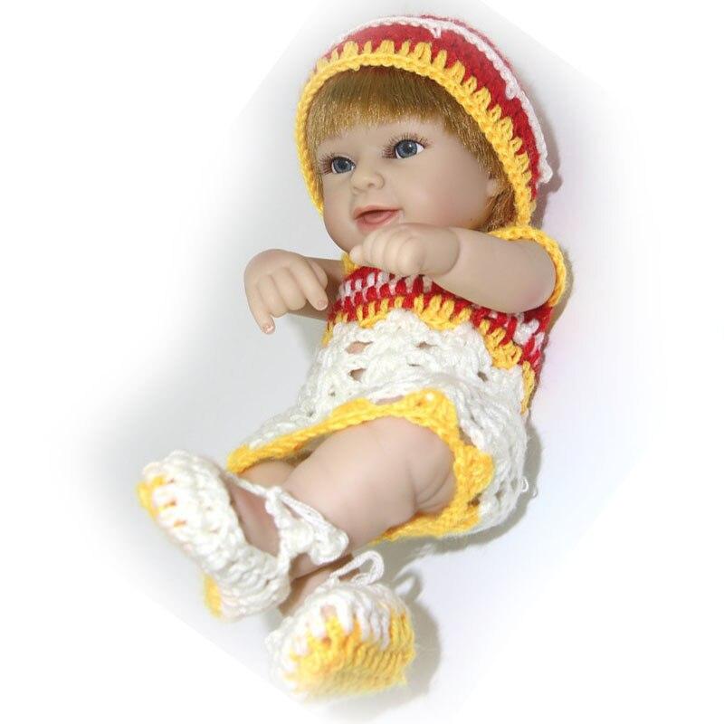 ᓂ2017 nueva llegada mini 10 pulgadas reborn baby doll completa de ...