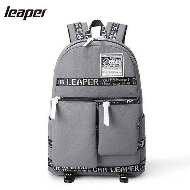 5b8e01b06e06 Leaper Oxford Waterproof Laptop Backpack Men Middle School Bags For  Teenagers 15.6 Inch Printing Designer Backpack Student-in Backpacks from  Luggage & ...