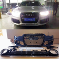 PP A6 RS6 Style Car styling accessories Front Bumper bodykit with rear diffuser For Audi A6 2012~2015