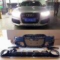 PP Estilo A6 RS6 Car styling acessórios Amortecedor Dianteiro bodykit com difusor traseiro Para Audi A6 2012 ~ 2015