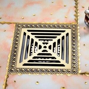 Image 2 - Freies Verschiffen Moderne 15cm x 15cm Bad Dusche Boden Ablauf Waschmaschine Abfall Ablassen Antike Messing