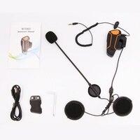 Taşınabilir motosiklet Bluetooth iletişim sistemleri su geçirmez motosiklet kask interkom uygun interkom ve ses