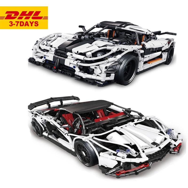 White Classic Supercar 23006 2838pcs Compatible Technic Vehicle Building Blocks DIY Model Assembly Toy Bricks