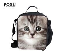 Forudesigns/Новая Мода для животных 3D Cat Lancheiras мальчик Еда Термальность сумка мило лошадь закуска для Meninas пикника плечо Leopard сумка