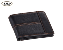 8064A  2014 October New Arrival High Quality Vintage Genuine Leather Black Man Wallet Purse