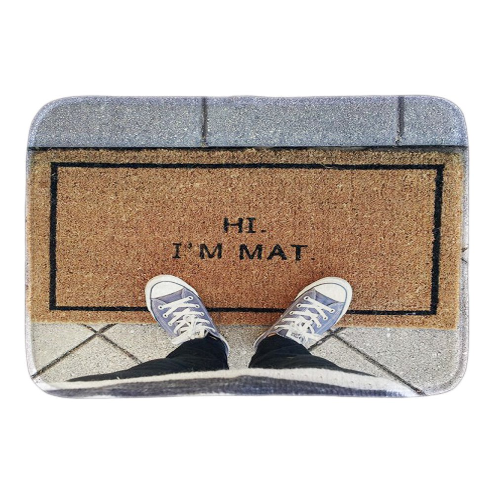 Funny bathroom rugs - Funny Doormats With Phtoto Of Hi I M Mat Decor Doormat Front Door Mat Cute Rubber Door Mats Short Plush Bathroom Rug Floor Mats