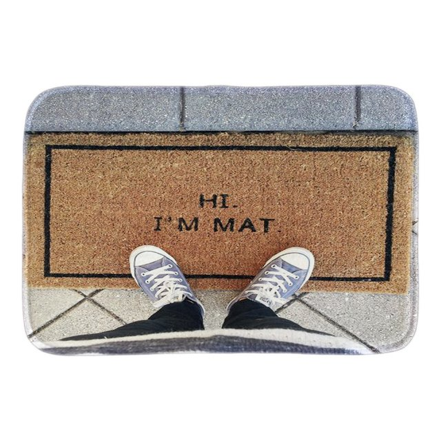 funny doormats with phtoto of hi iu0027m mat decor doormat front door mat cute