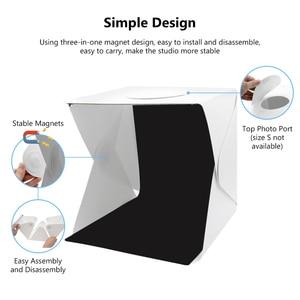 Image 5 - 40 سنتيمتر المحمولة للطي صندوق الضوء التصوير استوديو سوفت بوكس مصباح ليد لينة صندوق مجموعة أدوات الخيمة للهاتف DSLR كاميرا صور خلفية