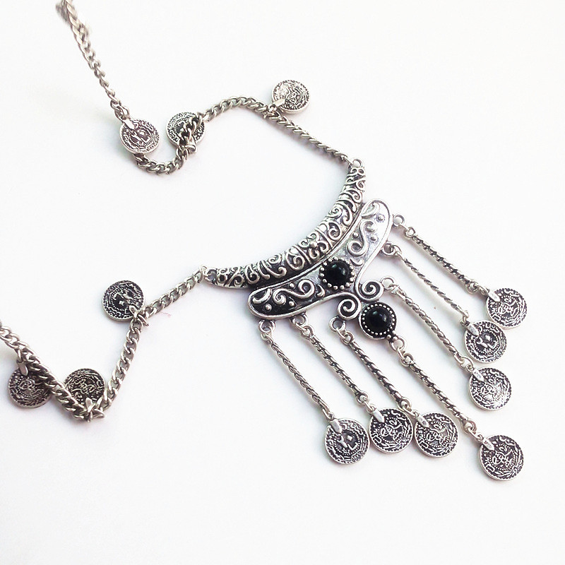 275a8b45575b RAVIMOUR Boho Antique Coin Necklaces Women African Statement Tibetan Long  Tassel Necklaces   Pendants Bohemian Maxi Jewelry 2017-in Pendant Necklaces  from ...