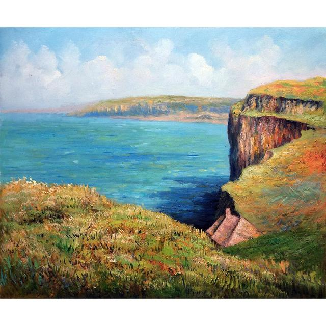 High quality Claude Monet paintings for sale Cliff at Fecamp Canvas