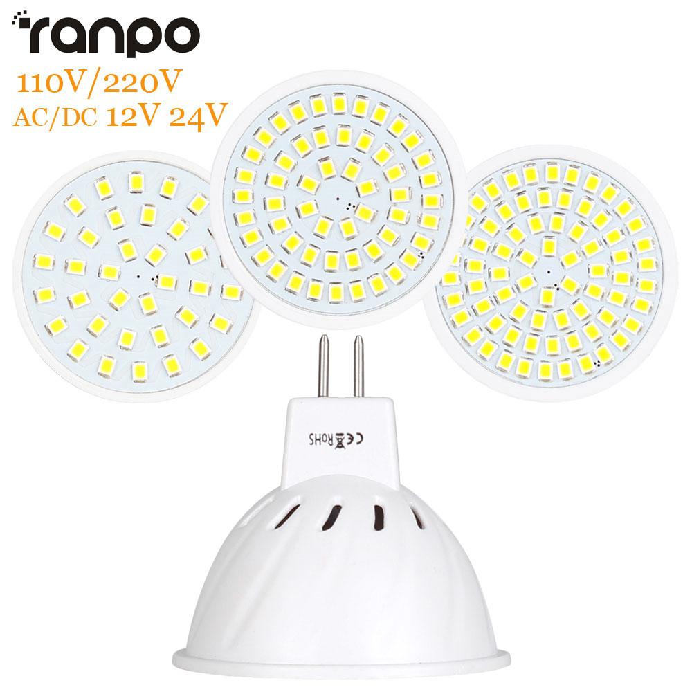 LED Lamp MR16 LED Bulb LED Spotlight Bulb Lampada 36 54 72LEDs SMD 2835 For Indoor Home Spot Light AC 110V 220V DC 12V 24V
