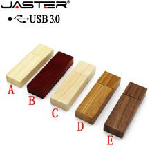 JASTER USB 3.0 Custom LOGO Wooden memory Stick usb flash drive pen drive pendrive 4gb 8gb 16gb 32GB U disk wedding gift