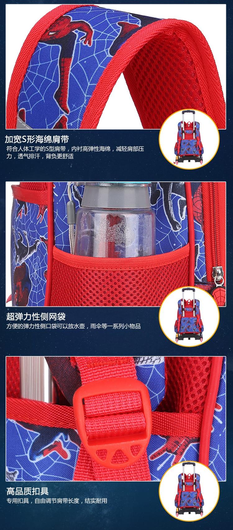 3D Spiderman Kids Primary School Backpack Boys Cartoon Spider Man Kindergarten Student Backpack Daypack Popular (10)