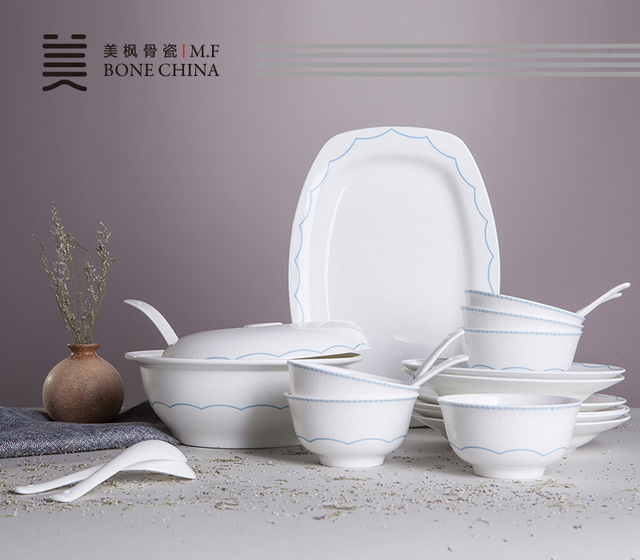 21 Stücke Set, Echt Bone China Geschirr Set, Kreative Relief Keramik, Decor  Haushaltsgeräte