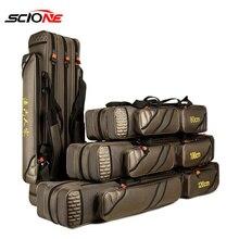 4 Layer Fishing Bag Large Capacity Portable Fish Pole Tools Storage Ba
