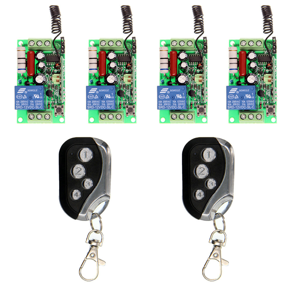 AC 220V 110V 1CH 1 CH Wireless Remote Control Switch Relay Output Radio Receiver Module and Transmitter,Self-Lock : 91lifestyle