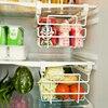 Butihome Telescopic Shelf Split Refrigerator Drawer Big Storage Hold Racks Orangizer For Kitchen White Guardar Comida