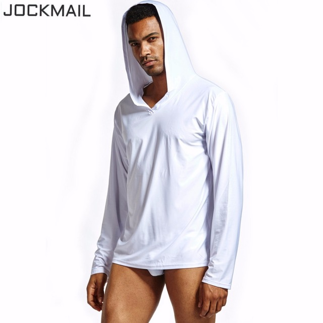 JOCKMAIL Men's Sleep Tops Lounge Homewear Sleepwear mens through shirts tank top male pajama hanging along Men's