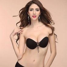 7331636f5a9b3 Women Silicone Bra Invisible Push Up Stick On Self Adhesive Front Lacing  women s fly Bras Strapless