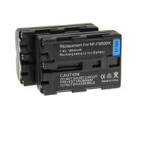 Высокое качество 2 шт. Батарея NP-FM500H NP FM500H Перезаряжаемые Батареи для камеры для Sony A57 A65 A77 A99 A350 A550 A580 A900
