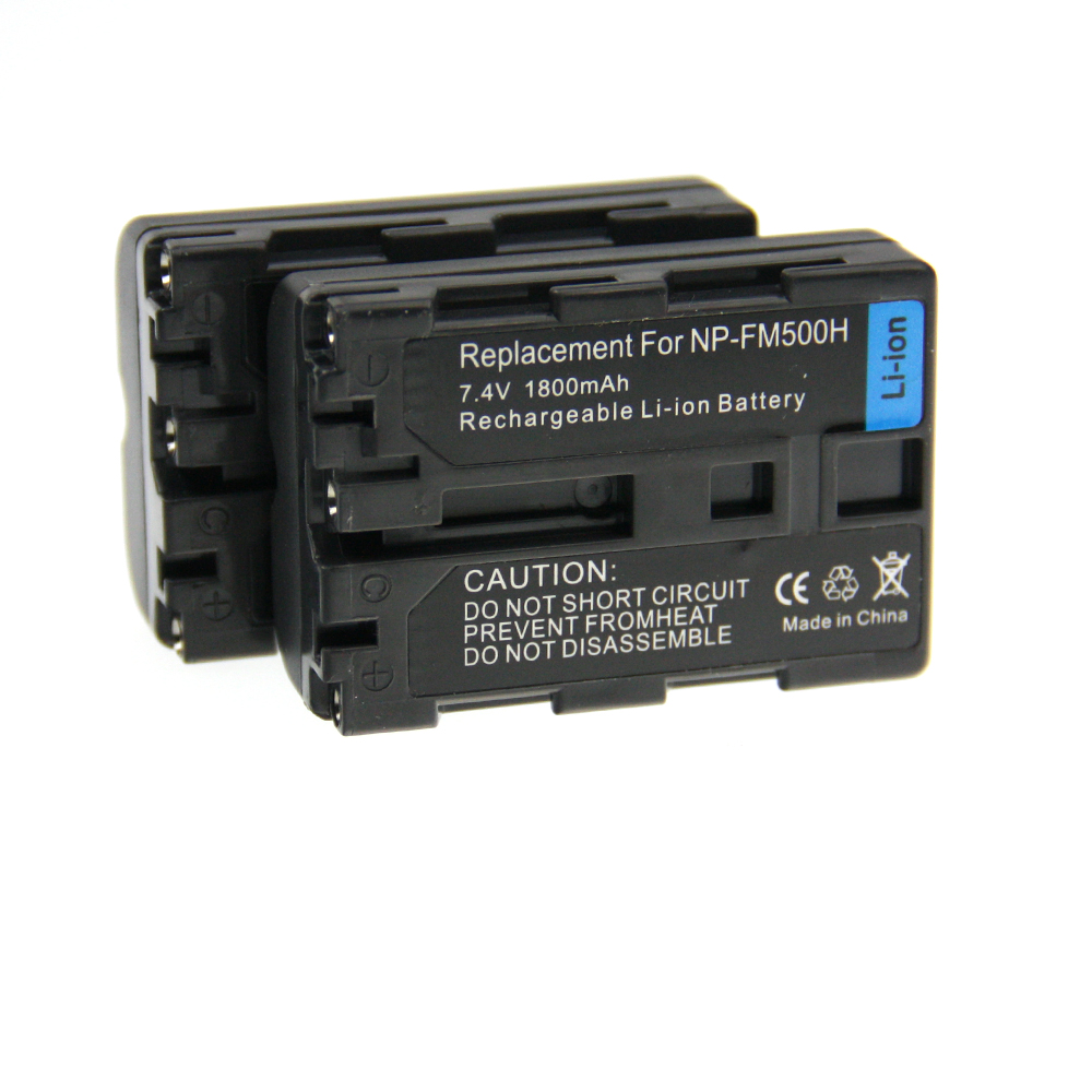 High Quality 2pcs Battery NP-FM500H NP FM500H Rechargeable Camera Battery For Sony A57 A65 A77 A99 A350 A550 A580 A900