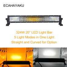 ECAHAYAKU 324W 3-Row 5 light modes Led Light Bar Car 22 inch Combo Beam for Trucks ATV 4x4 offroad Tractor Jeep Auto 12V