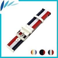Nylon Leather Watch Band 22mm 24mm for Diesel Fabric Nato Strap Wrist Loop Belt Bracelet Watchband Black White + Spring Bar
