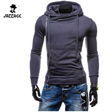 Hoodies Men 2016 Brand Male Long Sleeve Hoodie Oblique Zipper Sweatshirt Solid Moletom Masculino Hoodies Slim Tracksuit XXL DWQA