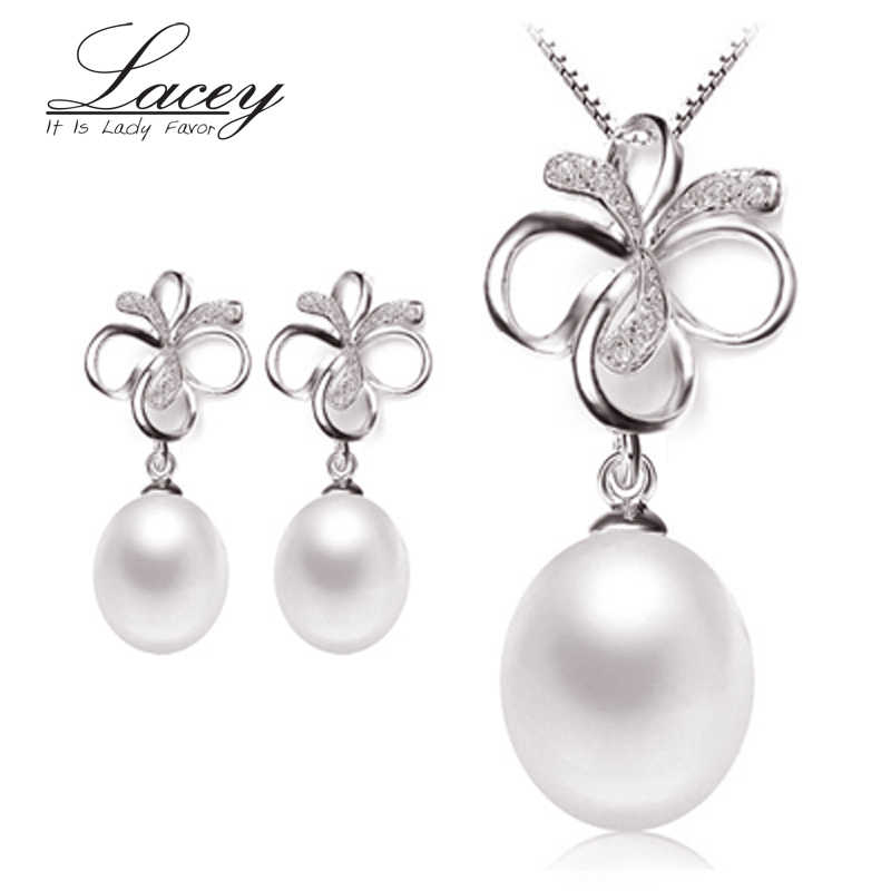 FACEY freshwater pearl jewelry sets women,natural pearl sets jewelry 925 silver fine jewelry women trendy gift white pink