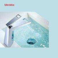 Lavatory Lady Favorite Merdeka Chrome Waterfall Faucet Single Hole Single handle Basin Faucet Wholesale and Retail mixer