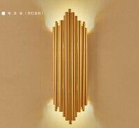 Современные светодиодный алюминиевый настенный светильник бра из металла дизайн освещения лампы champagne gold Свет труба трубы минимализм Роск