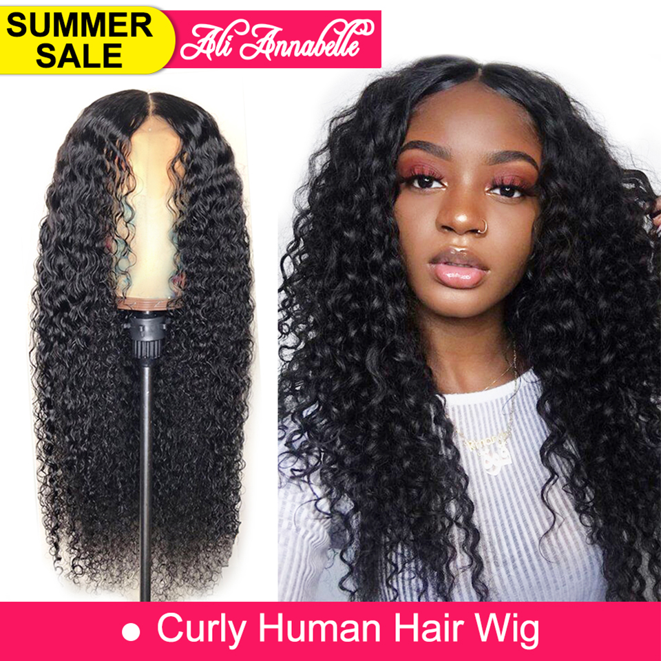 Lace Front Human Hair Wigs With Baby Hair Brazilian Curly Human Hair Wig 13*6 Human Hair Wigs 180% 250% Density Kinky Curly Wig(China)