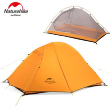 NatureHike 2 Person Double Layer Ultralight Tent Outdoor Picnic 3 Seasons Waterproof Tent Camping 20D Silicon Tent naturehike 1 2 persons wind wing double layer ultralight 3 seasons camping tent outdoor mountaineering tent windproof waterproof