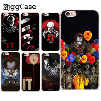 HjggCase Pennywise The Clown Horror Phone Case For iPhone 6 6S 7 8 Plus 5 5S SE Soft TPU Cover For iPhone X for Coque iPhone 6s чехлы марвел